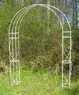 Hedingham decorative wrought Iron Garden Arch