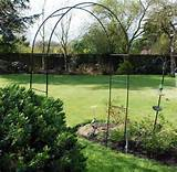 Free standing metal garden arch