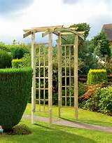 gardman gallic metal garden rose arch