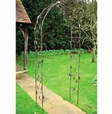 Leaf Design Metal Garden Arch