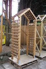 trellis arch made on 75mm x 75mm posts and heavy duty country trellis