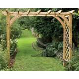 Garden Arbours, Arches, Garden Pergolas, Obelisks › Garden Arches ...