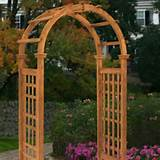 Outdoor Rosewood Garden Arbor Trellis Arch Top Add outdoor decor to ...