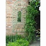 garden mirror illusion arch trellis