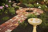 recycled brick paving feature garden edging using recycled bricks