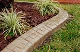 garden edging ideas - home concrete edging flower bed edging metal ...