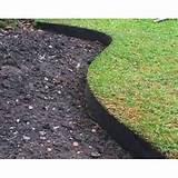 black plastic lawn edging