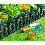 are here garden lawn care 3 x fleur de lys plastic lawn edging