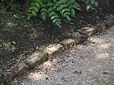 Front Yard Landscape , 7 Nice Stone Path Edging : Lawn Edging Products