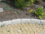 White Granite Garden Edging Borders 300x150x100