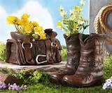 Western Theme Garden Planters