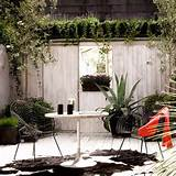 This patio actually looks a lot like ours, in terms of the fence and ...