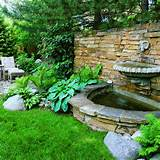 Backyard Garden with Fountain Beautiful Backyard Garden Ideas