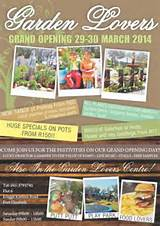 Grand Opening of the New Garden Lovers Nursery