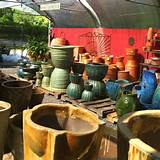 Our container section. Tons of unique pottery.