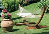 backyard ideas hammock with clay vase