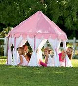 design pink color outdoor playsets for kids on backyard garden ideas