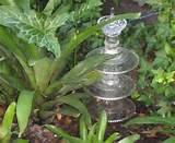 garden art glass totems