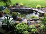... Pond Natural Stone Slab Waterfall Home Garden Backyard Ideas Design
