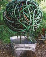 RECYCLED GARDEN IDEAS #R001 NEW USES FOR AN OLD GARDEN HOSE