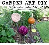 garden art diy decorative garden balls