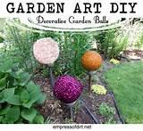 Garden Art DIY: Decorative Garden Balls