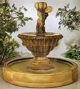 valencia cherub w pool outdoor garden fountain 5502f10