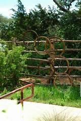 rusty metal garden art picture