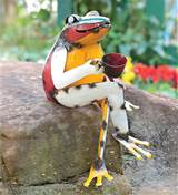 metal coffee frog garden art 52339 recycled metal coffee frog garden