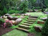 steep garden ideas - sloping backyard garden ideas sloping rock ...