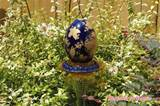 whimsical egg garden stake repurposed yard art