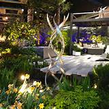 in a lush modern garden at the northwest flower and garden show