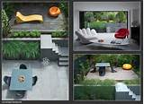 small modern city garden created by