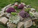 small rock garden idea yard decorating with flowers and rocks