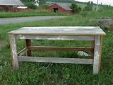 amish handmade primitive rustic country barnwood table garden bench