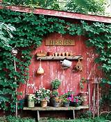 old gardening tools for shed decorating