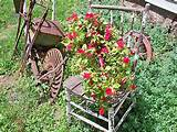 ... -METAL-TOOL-TOTE-BOX-TRAY-SHABBY-RUSTIC-FARM-FLOWER-GARDEN-DECOR