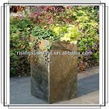 Rustic slate stone outdoor decor flowerpot