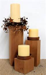 primitive decor country candle holders outdoor decor rustic decor