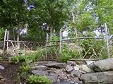 ... stone garden rustic oak garden fences ideas: natural fencing ideas