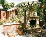 Masonry Outdoor Fireplace Plans for Patio Decorations : Rustic Patio ...