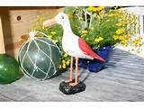 seagull bird rustic red coastal 12 garden home decor