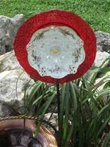... Plate Unique Garden Decor made with vintage fine china. Handmade