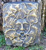 about unique cement green man leaf man face garden art yard decor