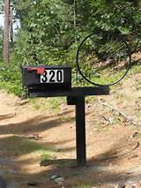 Mailbox with Bicycle Wheel
