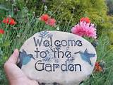 outdoor decor unique garden sign for the country cottage garden