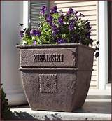 decorative personalized garden planters