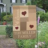 personalized family garden flag loving hearts 19 95 add a unique