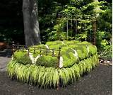 unique garden decor dog bed
