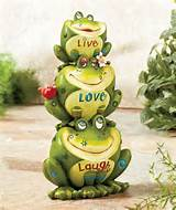 love laugh fun frog garden statue yard garden outdoor decor